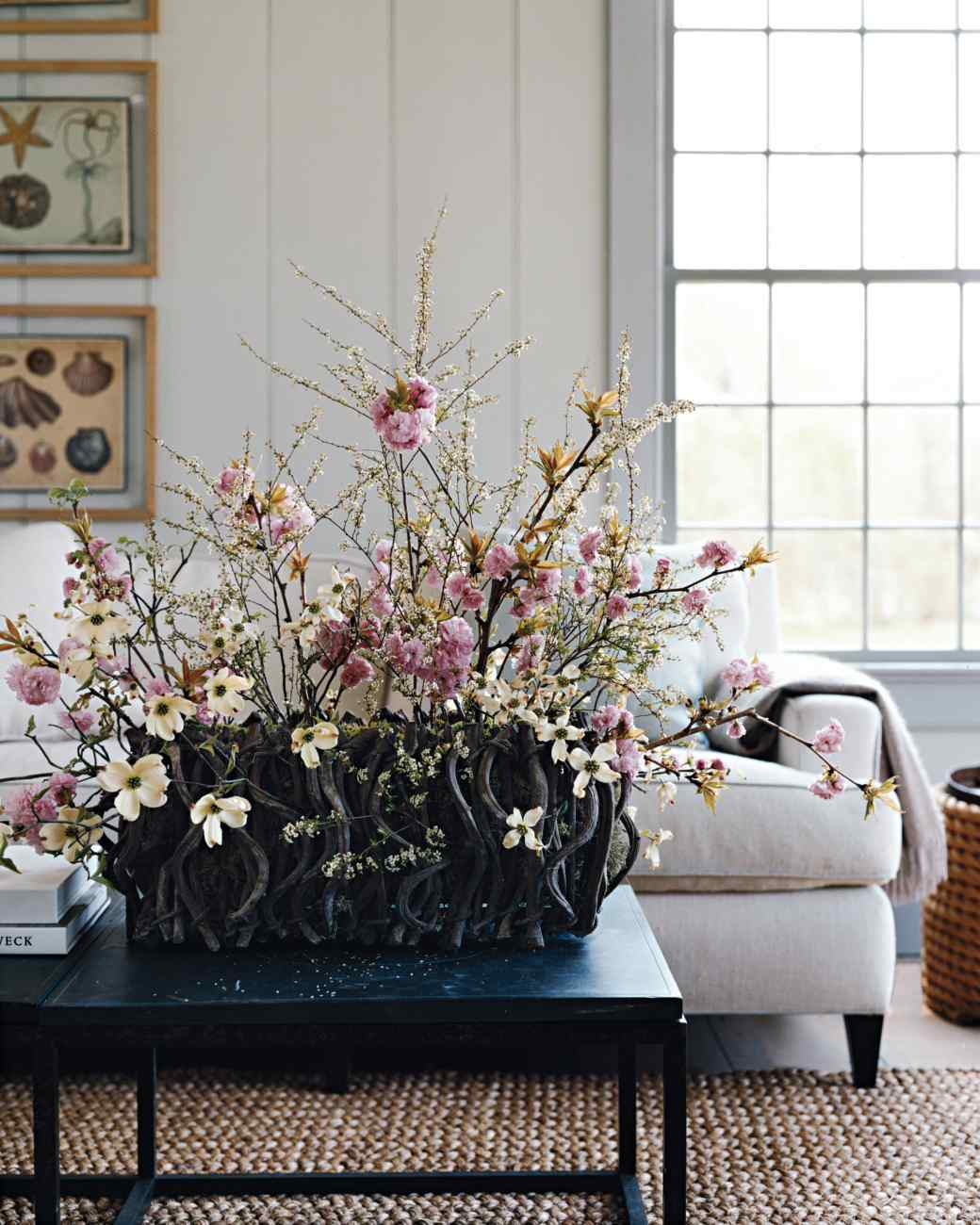 How-to Cherry Blossom and Dogwood Arrangement Martha Stewart Easter Decorations