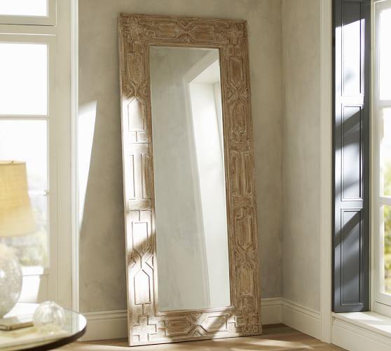 Sabine Floor Mirror Pottery Barn   Floor Mirrors
