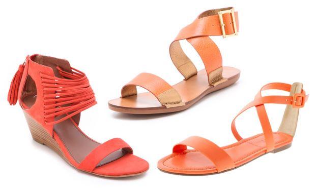 Orange sandals | Spring Sandals