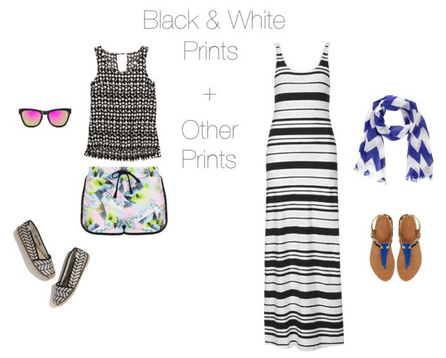 How She'd Wear It - black and white prints + prints