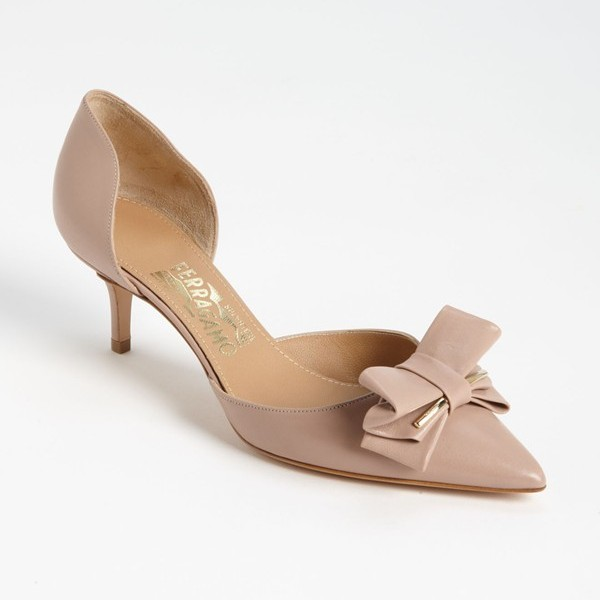 Salvatore Ferragamo Rietta Pump in Nocturne Rose Calf