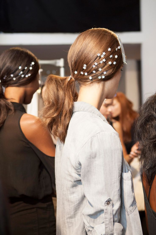 Backstage at Honor, Spring 2014 | Oh This Little Pretty World | Pinterest Picks - Holiday Hair Inspiration