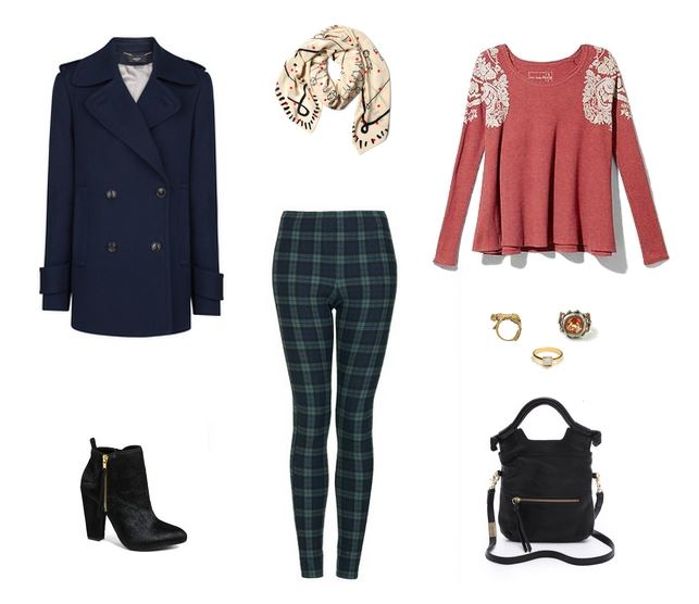 How She'd Wear It - Black Watch Tartan Leggings