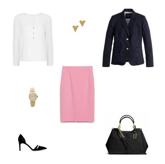 How She'd Wear It with Style and Cheek - Pink Business Casual / Professional