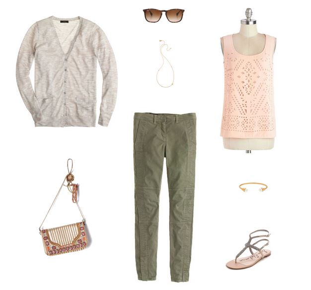 How She'd Wear It with Style and Cheek - Pink and Olive Green for Day | Pink Day to Night