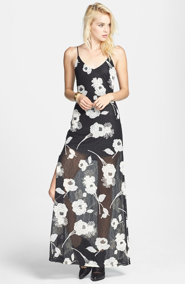 ASTR Floral Appliqué Lace Maxi Dress - Nordstrom Anniversary Sale Early Access 2014