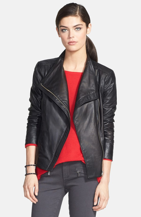 Trouvé Leather Moto Jacket - Nordstrom Anniversary Sale Early Access 2014