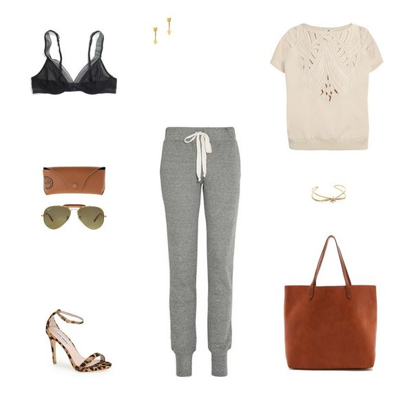 How She'd Wear It with Style and Cheek - Fancy Sweatpants