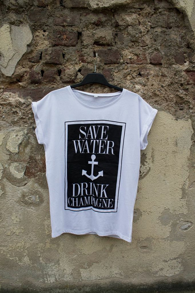 Save Water Drink Champagne Tee via LifeLikeStreetwear | Champagne Inspired Gifts