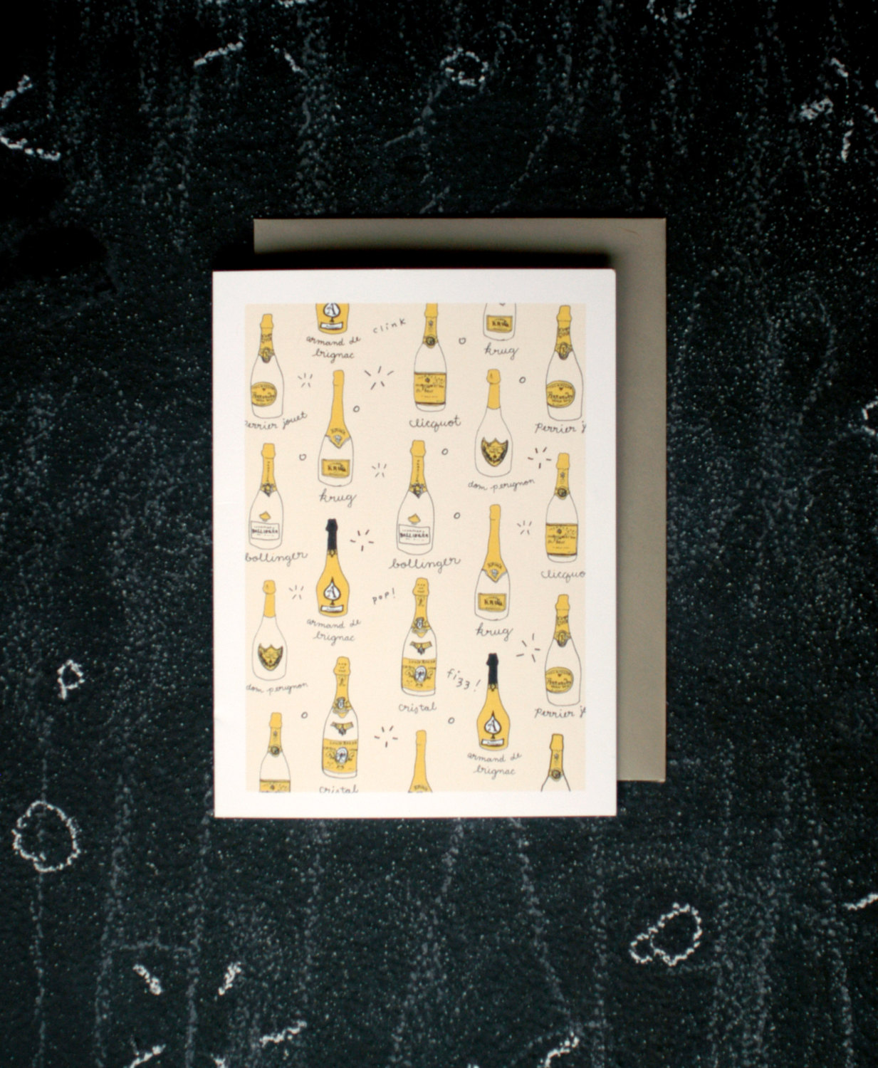 Champagne Celebration Cards via AllisonCornu | Champagne Inspired Gifts