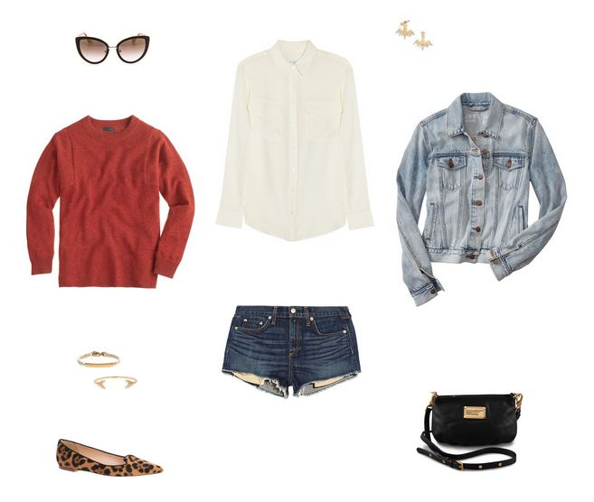 How She'd Wear It with Style and Cheek - Denim on Denim Jacket and Shorts