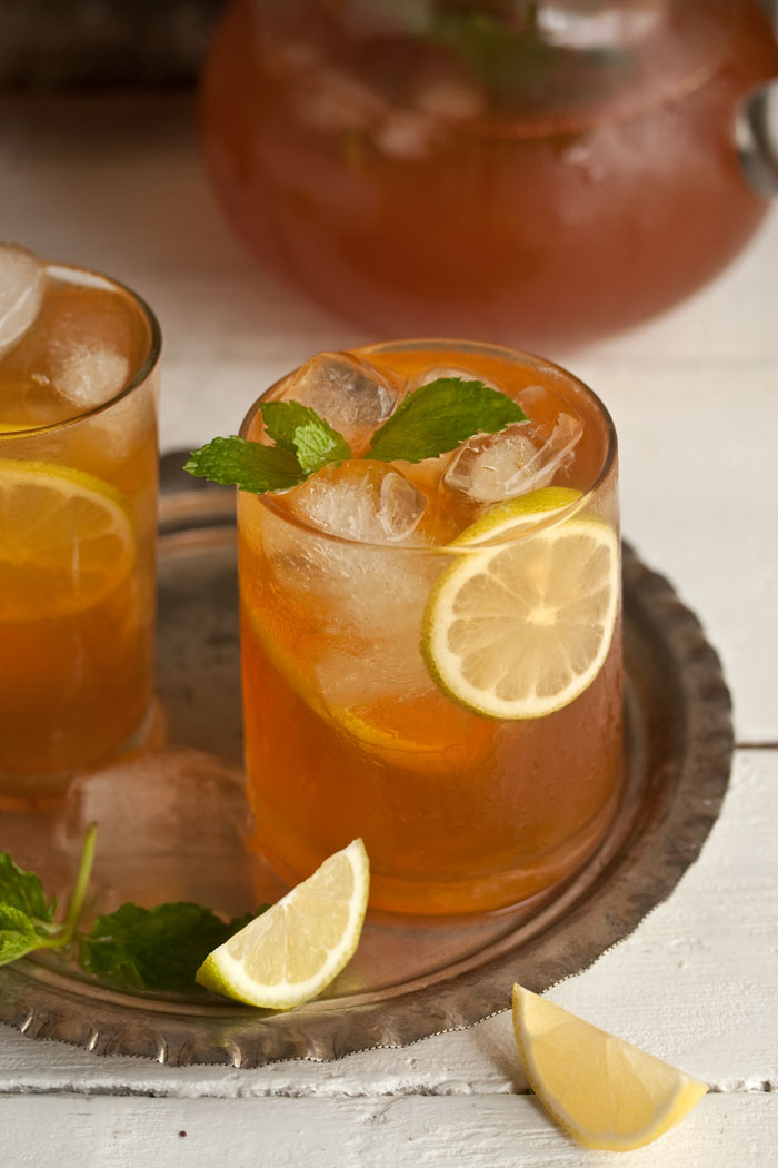Home-made Ice Tea with Ginger Mint and Lemon | Drizzle & Dip | Pinterest Picks - Flavored Iced Tea Recipes