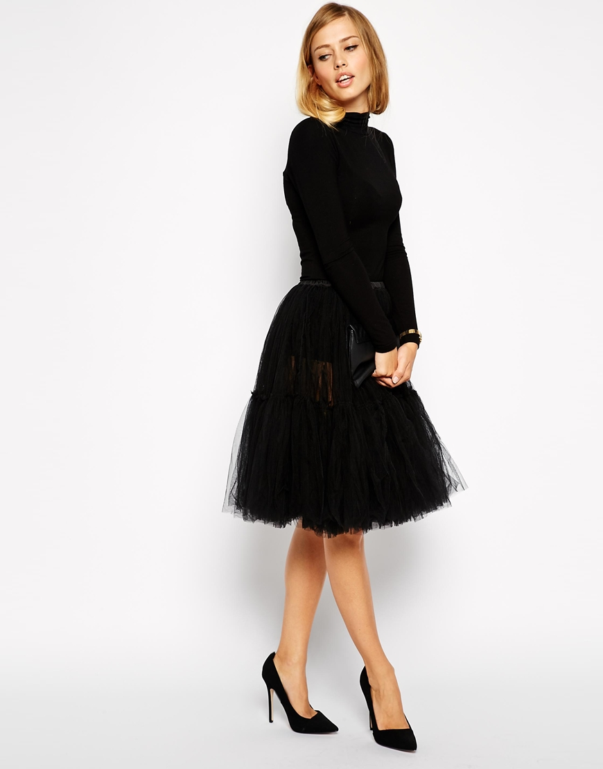 ASOS Full Midi Tulle Skirt | Spooky Style - The Black and White Edition