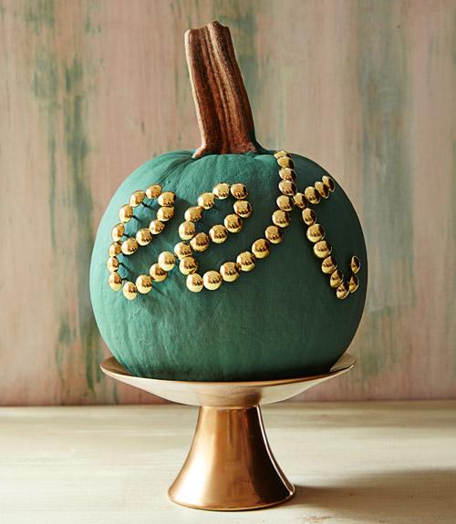 Pumpkin Thumbtack Message | Country Living | Pinterest Picks - No Carve Pumpkin Ideas