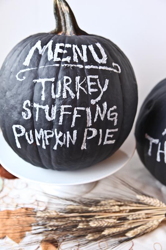 Chalkboard Pumpkins | Better Recipes | Pinterest Picks - No Carve Pumpkin Ideas