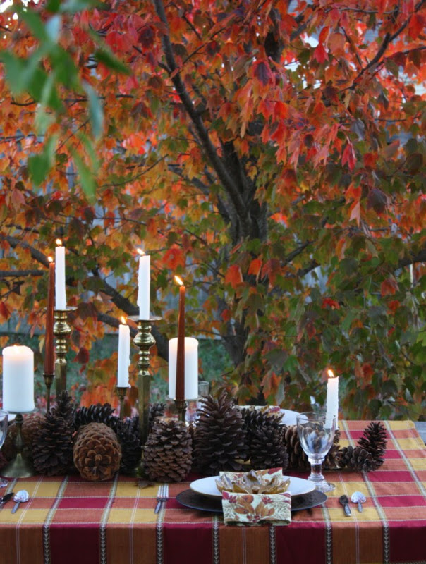 A Rustic Russet Evening Tablescape | Sweet Something Designs | Simple Thanksgiving Table Setting Ideas