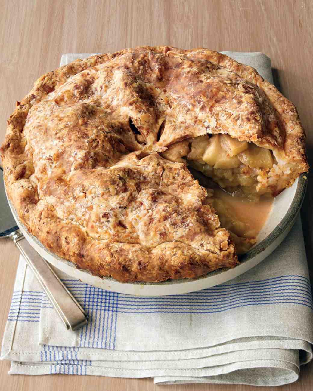 Cheddar-Crusted Apple Pie | Martha Stewart | Thanksgiving Pie Recipes