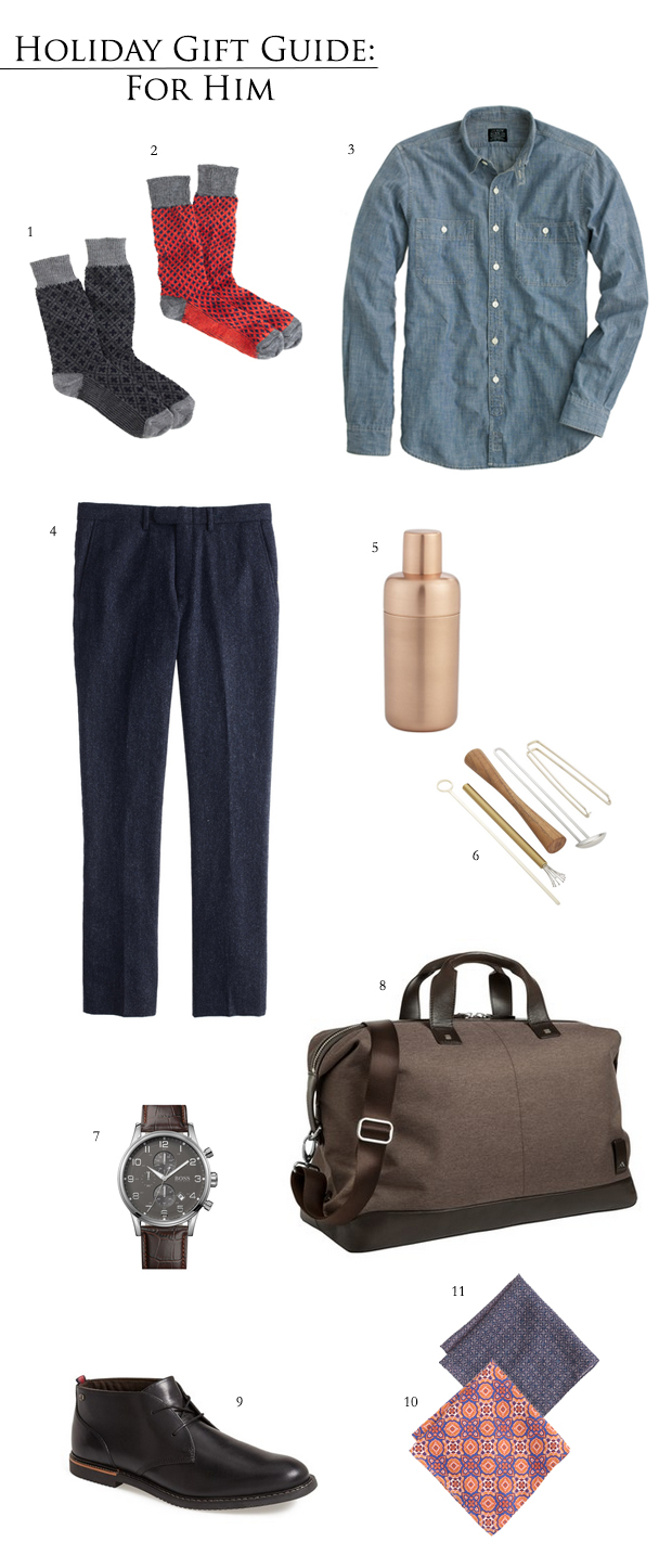 Holiday Gift Guide for Him 2014 | Style and Cheek