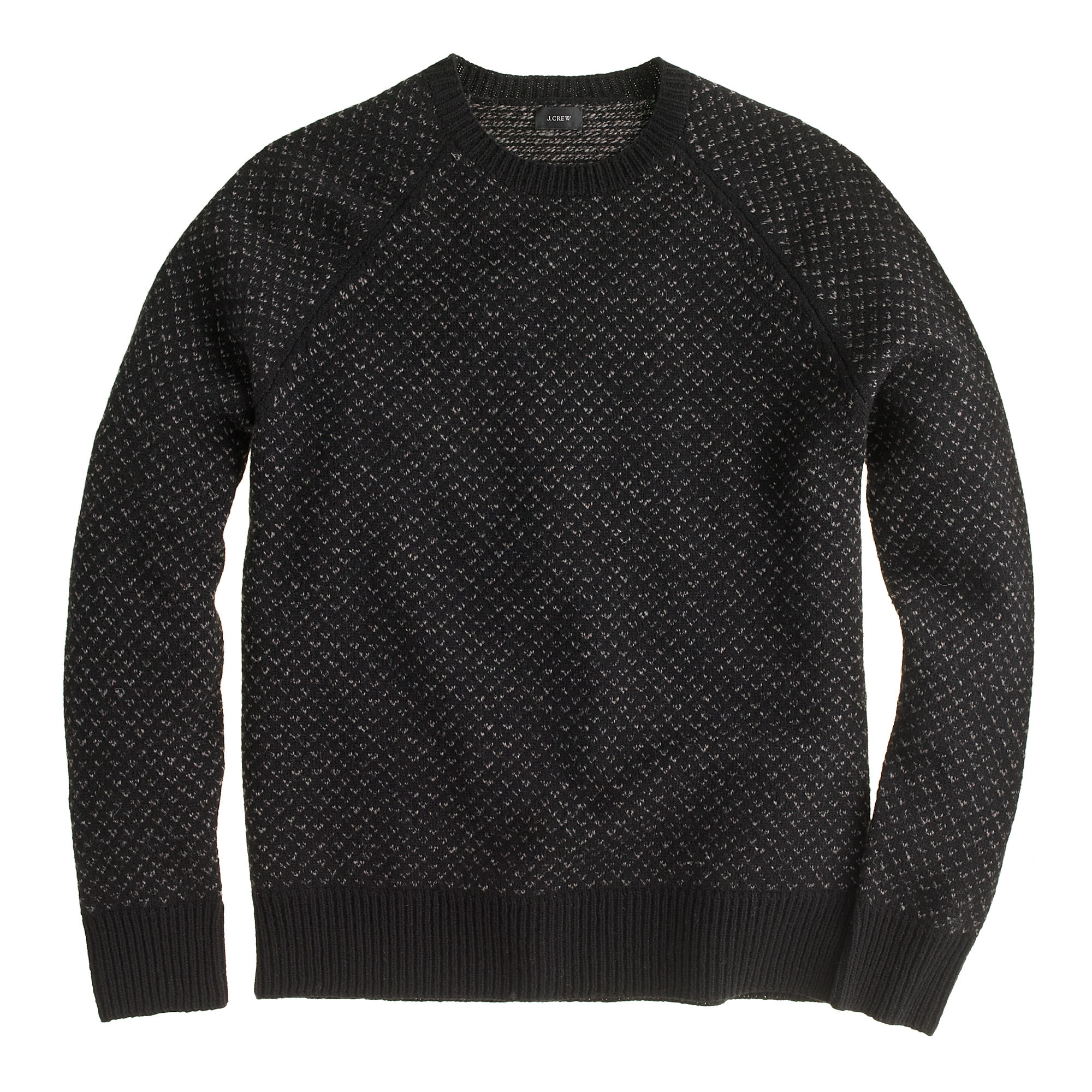 J.Crew Lambswool Bird's-Eye Sweater | 10 Fall Wardrobe Essentials for Men