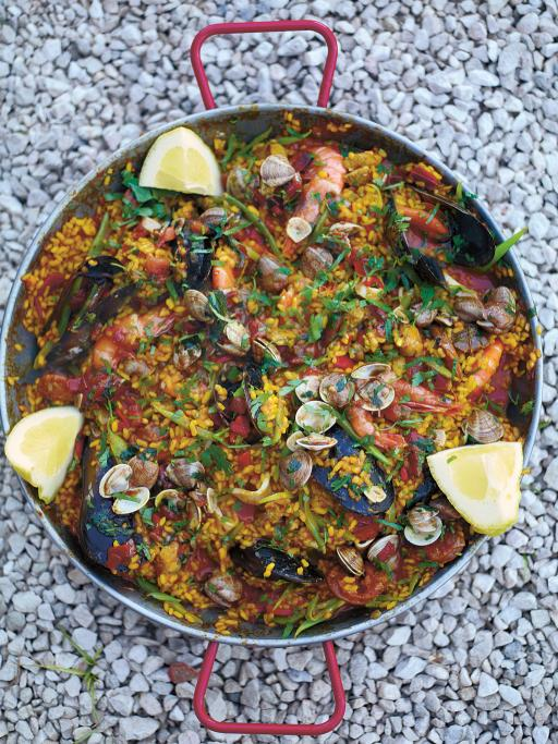 My Favourite Paella with Chicken, Chorizo, Mussels, and Prawns | Jamie Oliver | Pinterest Picks - Thanksgiving Alternatives to Turkey