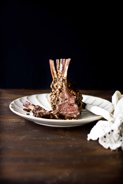 Raspberry Balsamic and Pecan Encrusted Rack of Lamb | Adventures in Cooking | Pinterest Picks - Thanksgiving Alternatives to Turkey