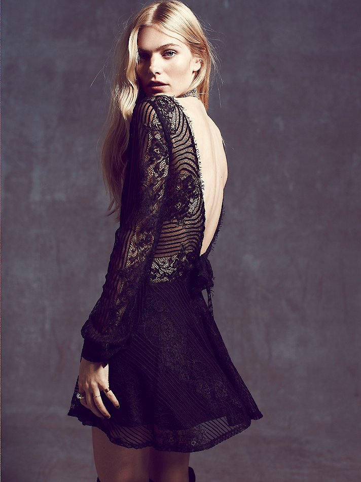 For Love and Lemons Lolo Lace Fit and Flare Dress | For Love & Lemons