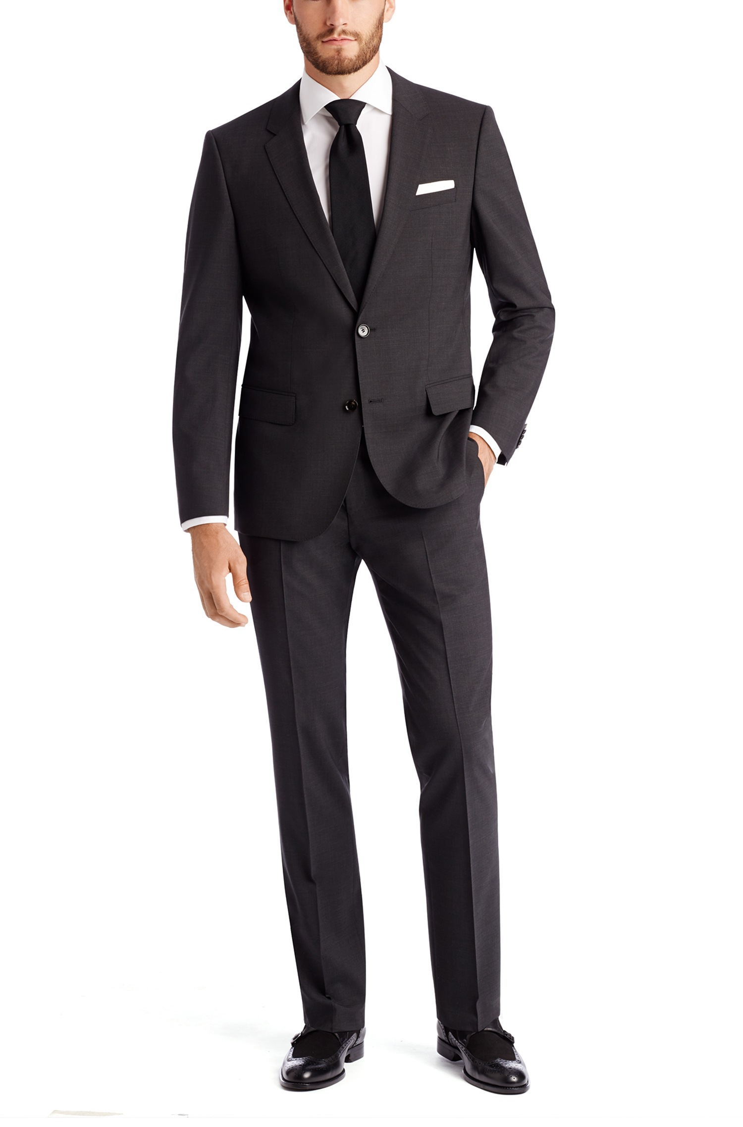 Hugo Boss 'Huge/Genius' | Slim Fit, Stretch Virgin Wool Suit by BOSS | Hugo Boss Suits