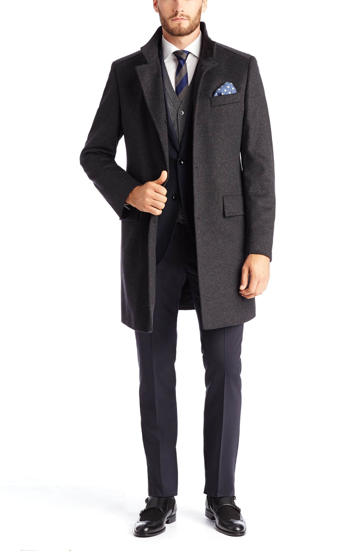 Hugo Boss 'The Sintrax' | Wool Cashmere Coat by BOSS | Hugo Boss Suits