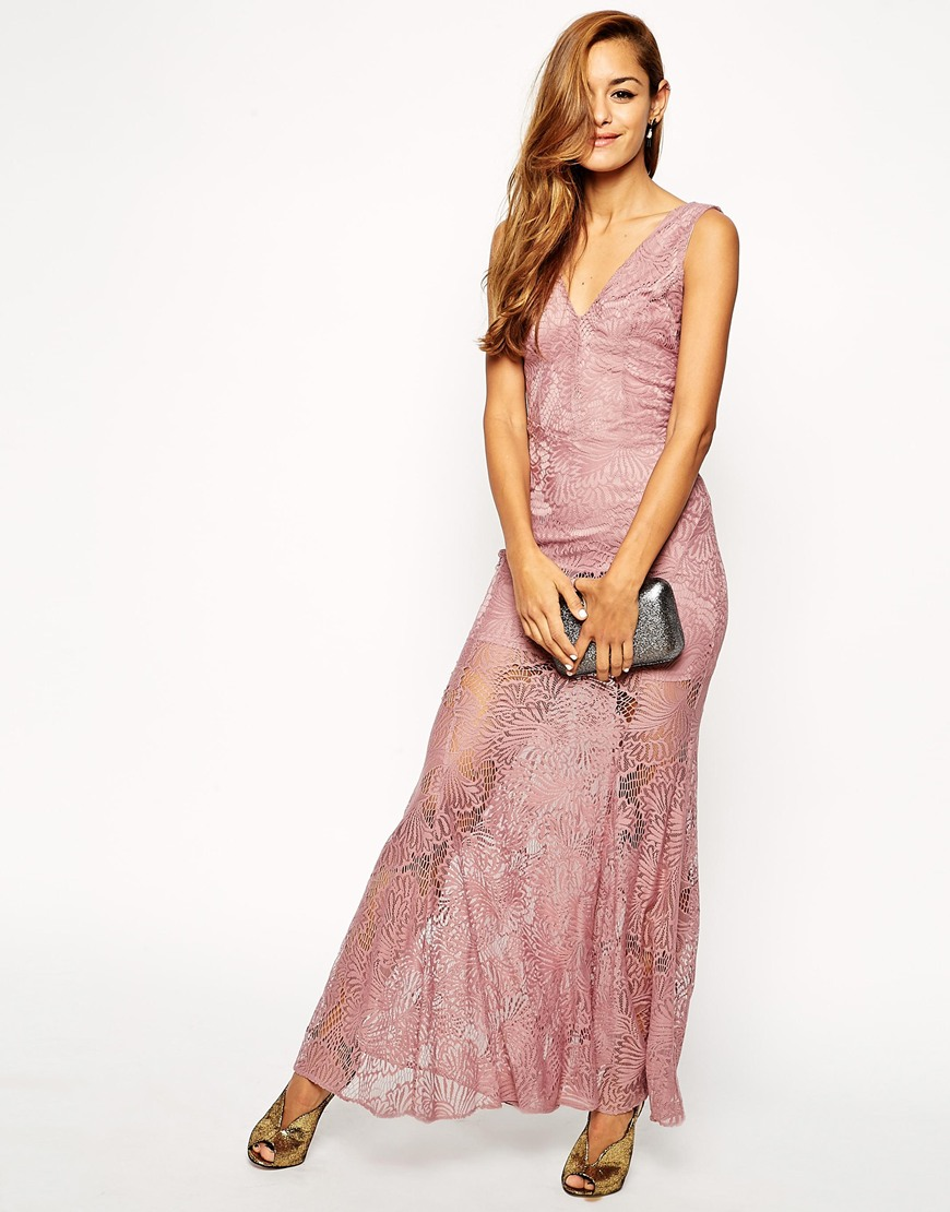 ASOS Lace Fishtail Maxi Dress | Versatile Valentine's Day Dresses