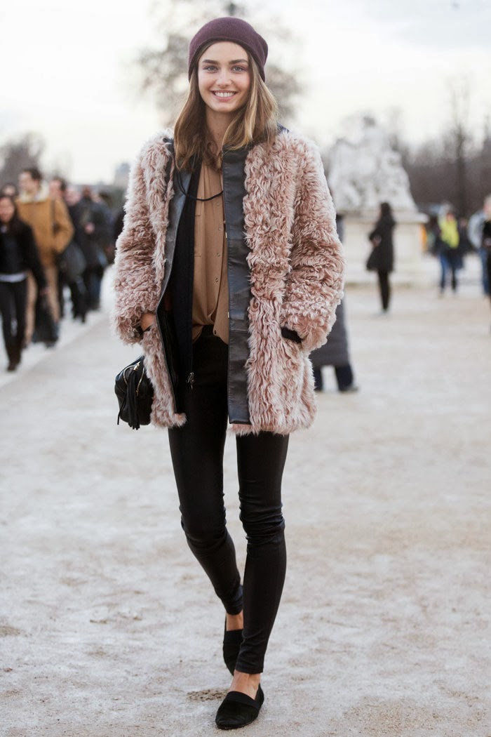Andreea Diaconu | Cool Chic Style Fashion | Pinterest Picks - Winter Layers