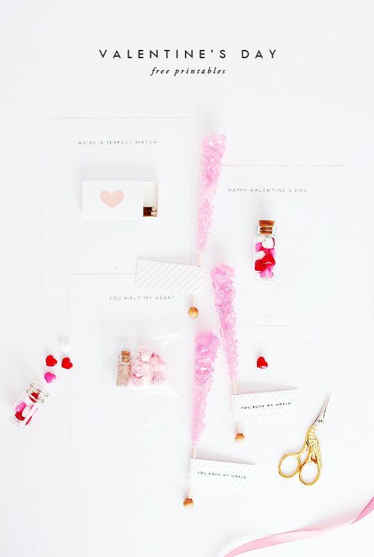 DIY Candied Valentine's Day Printables | Sugar and Cloth | Valentine's Day Inspiration