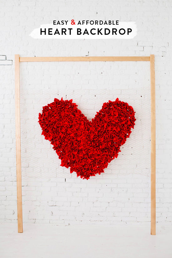 DIY Heart Backdrop | Design Love Fest | Valentine's Day Inspiration