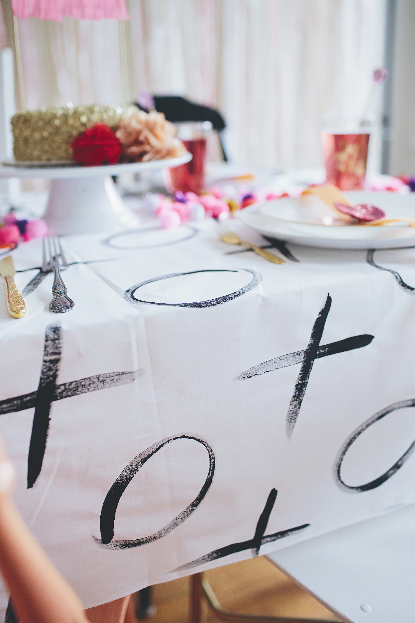 DIY Tablecloth: Host a Galentine's Day Party For Your Lady Friends | PopSugar | Valentine's Day Inspiration