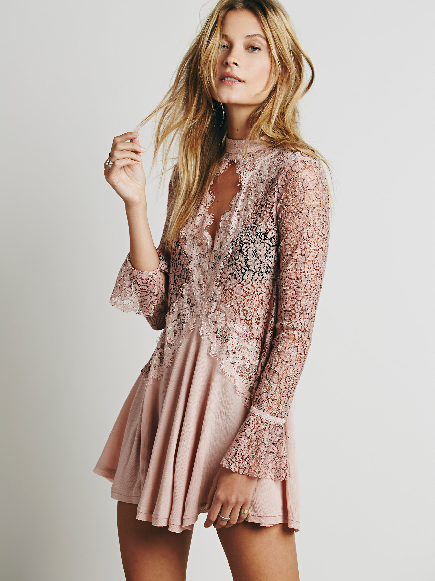 Free People Secret Origins Pieced Lace Tunic | Versatile Valentine's Day Dresses