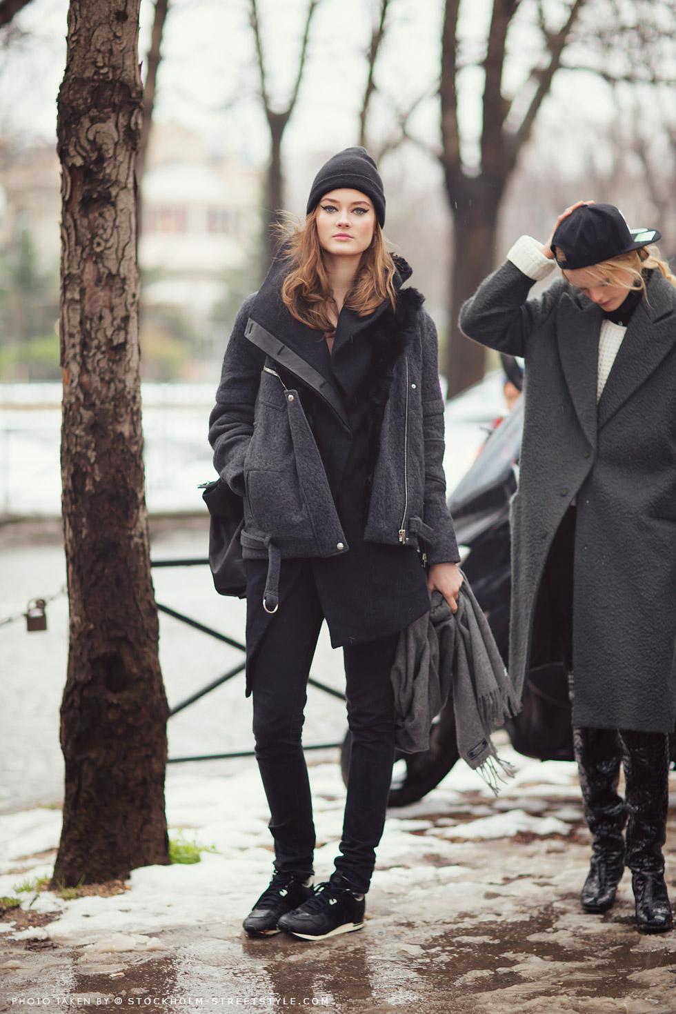 Jac Jagaciak Model Off Duty   Carolines Mode Stockholmstreetstyle   Pinterest Picks - Winter Layers