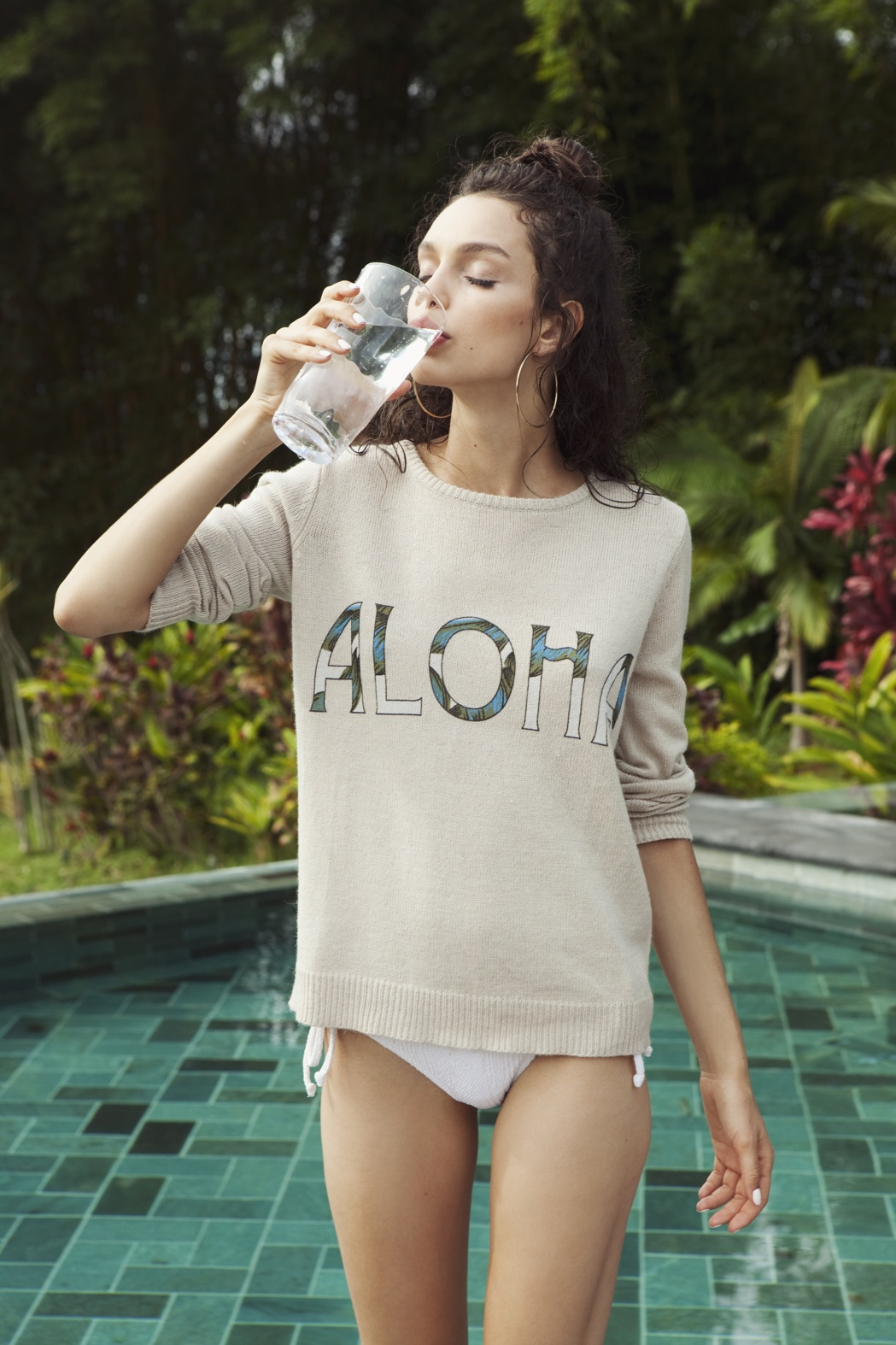 For Love and Lemons Pacific Getaway Spring 2015 Collection Aloha Sweatshirt | Tropical Inspiration