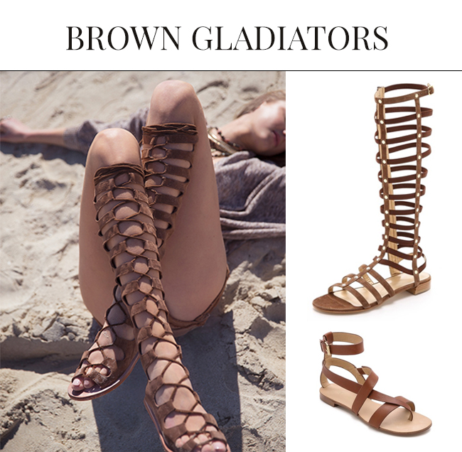 Brown Sandals for Spring Summer| Gladiator Sandals 2015