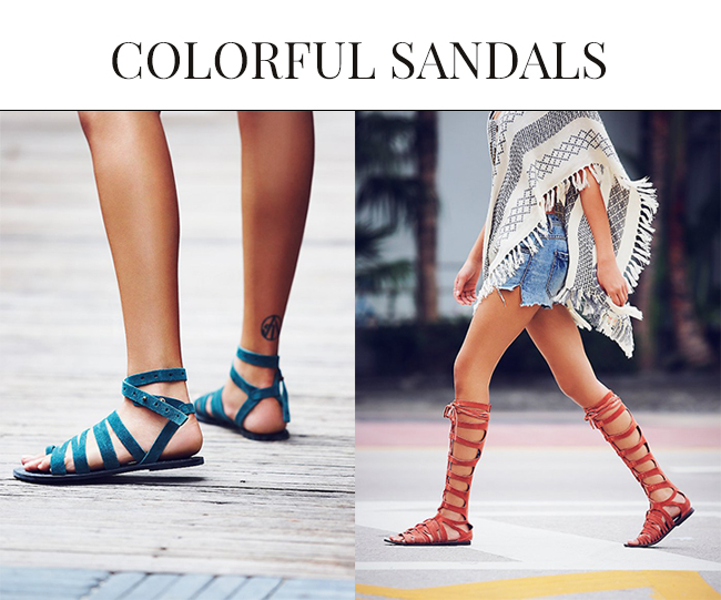 Colorful Sandals for Spring Summer| Gladiator Sandals 2015