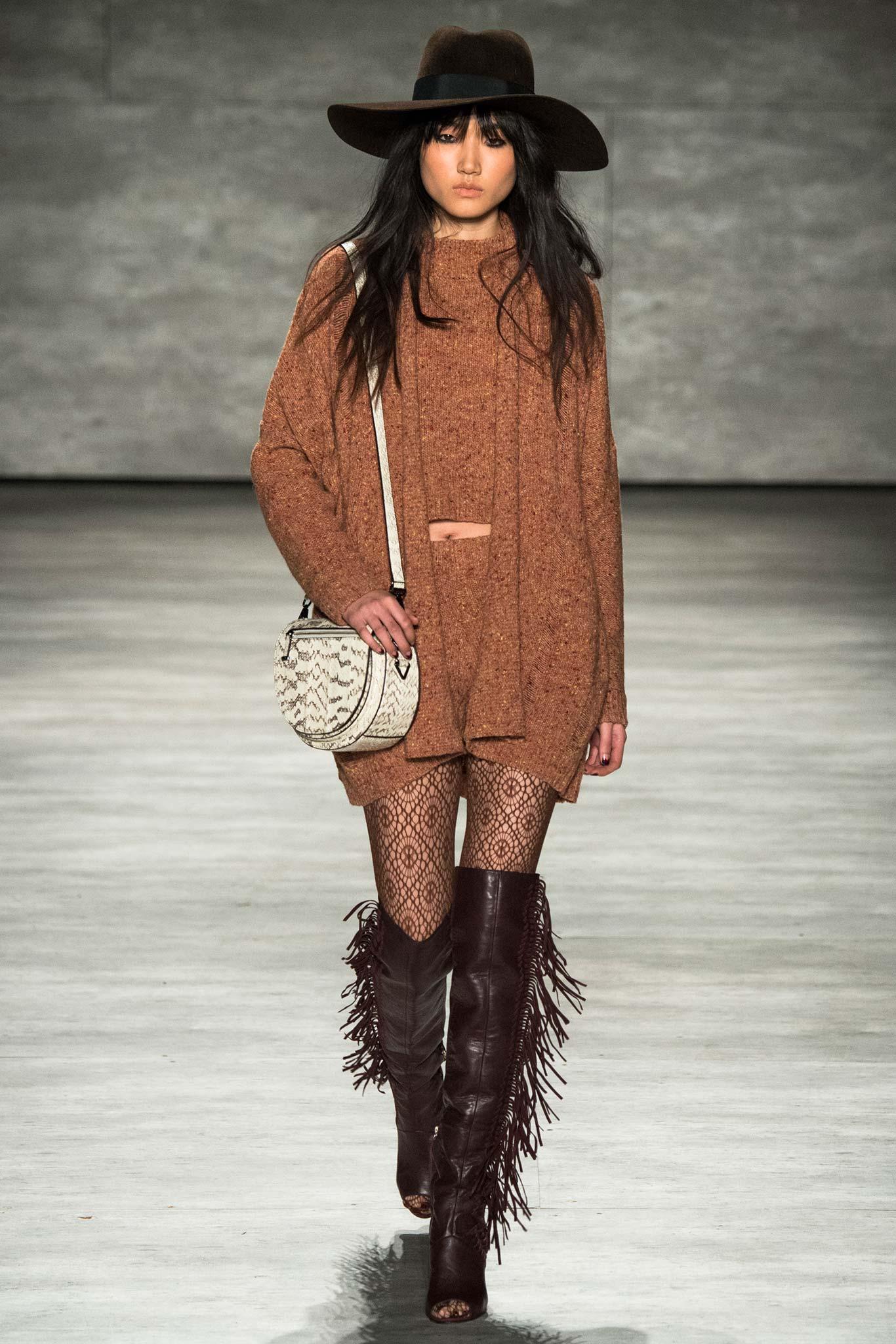 Rebecca Minkoff Fall 2015 Ready-to-Wear Look 15 Photo: Yannis Vlamos / Indigitalimages.com   Style.com   Fall 2015 RTW Runway Looks