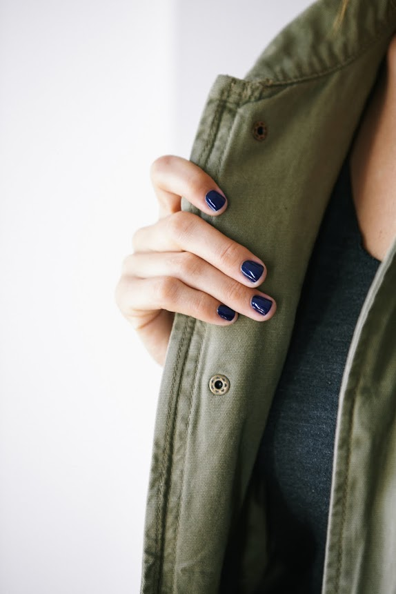 Fall trend: Navy Nails | A Cup of Jo | Navy Nails