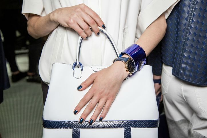 Spring 2015 Nail Ideas Navy Nails Emporio Armani | Glamour | Navy Nails