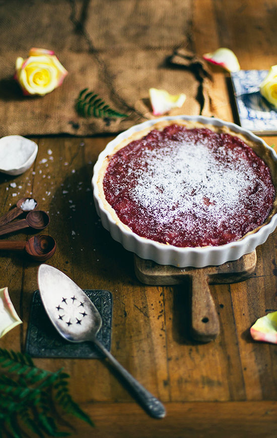 Rhubarb and Grand Marnier Tart Recipe | Design Love Fest - Mother's Day Ideas