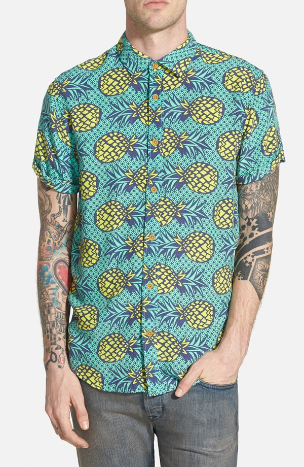 Scotch & Soda 'Aloha' Extra Trim Fit Short Sleeve Print Woven Shirt | Men's Prints