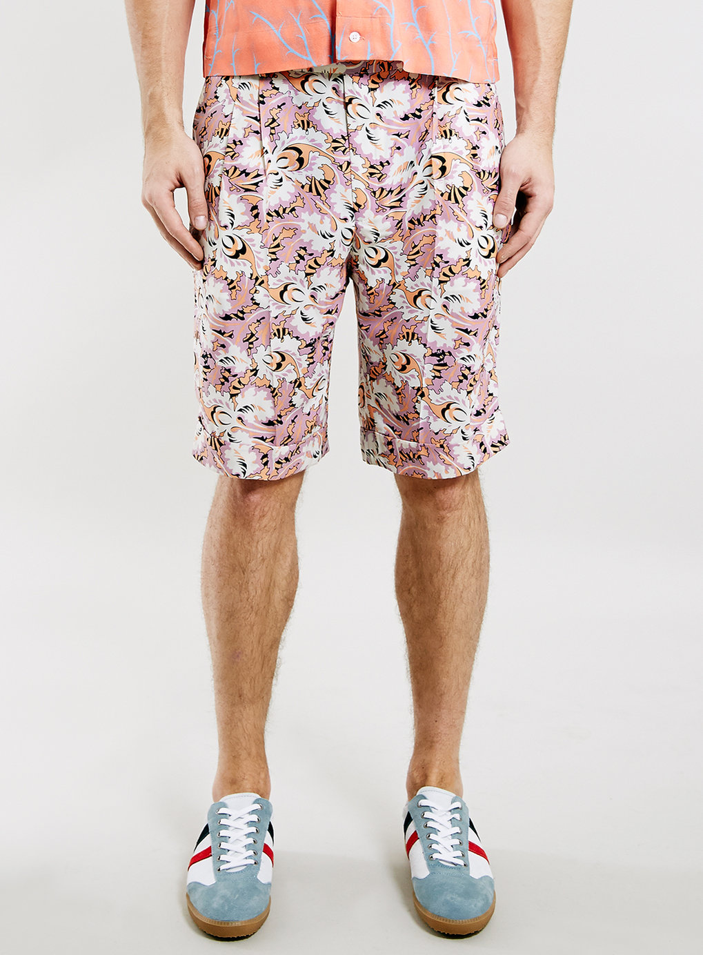 Topman Tmd Ornate Print Shorts | Men's Prints