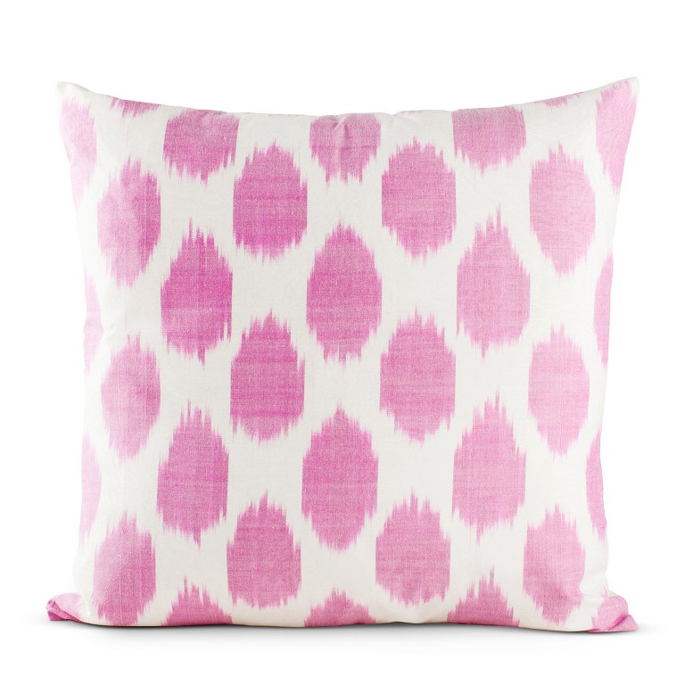 Furbish Studio Fuchsia Spotted Silk Pillow