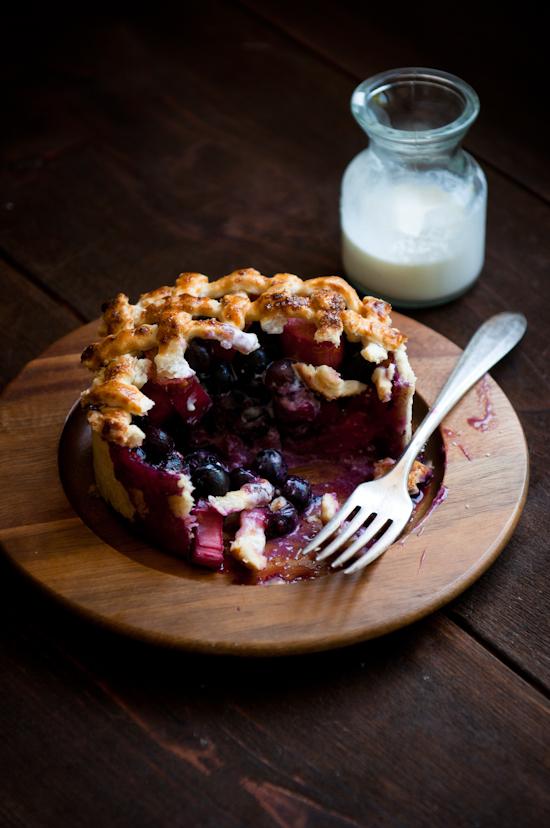 Blueberry Rhubarb Deep Dish Pie | Desserts for Breakfast | Summer Ready Rhubarb Recipes