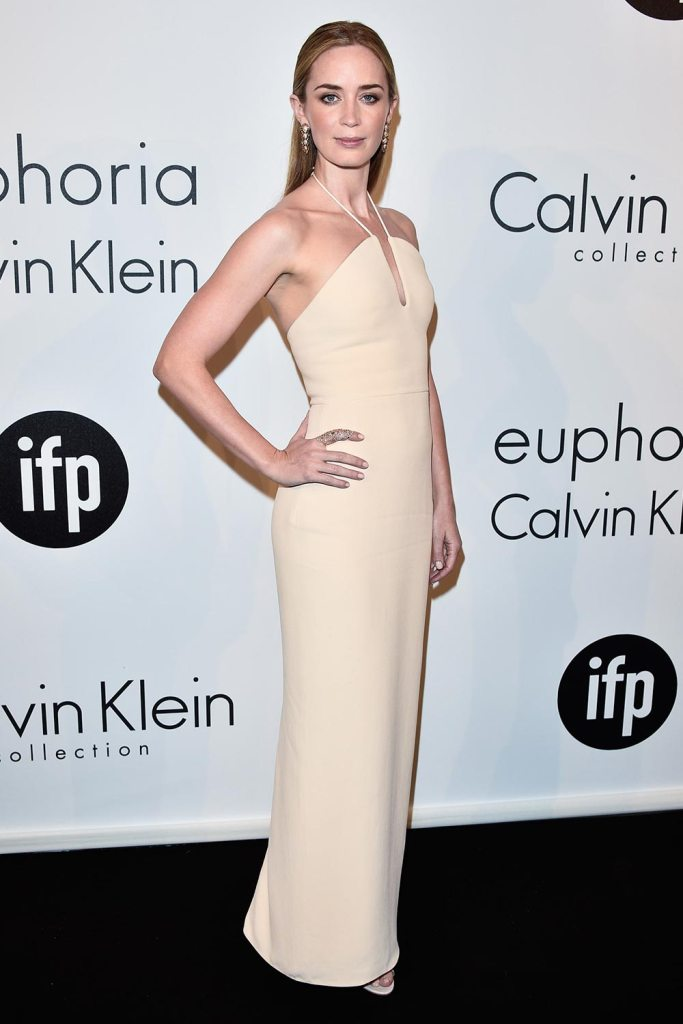 Emily Blunt at the Calvin Klein Celebrates Women In Film event at the 68th Cannes Film Festival on May 18, 2015 | Harper's Bazaar | Emily Blunt Red Carpet Style