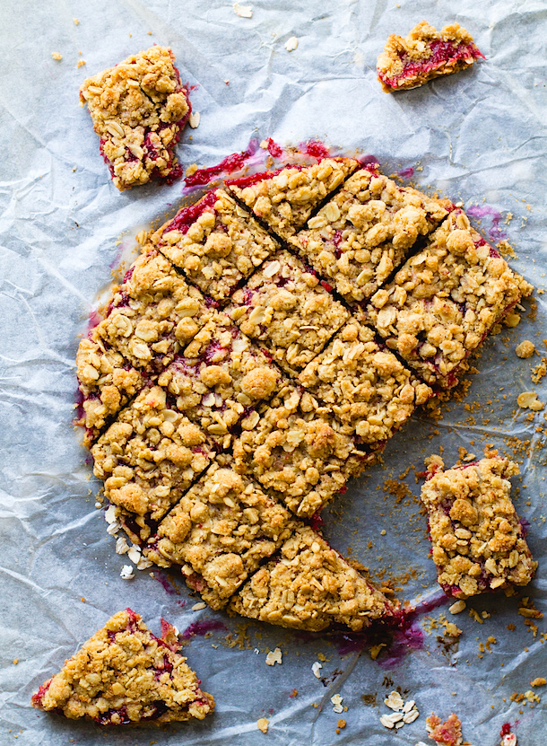 Raspberry Rhubarb Crumble Bars | Heart Beet Kitchen | Summer Ready Rhubarb Recipes