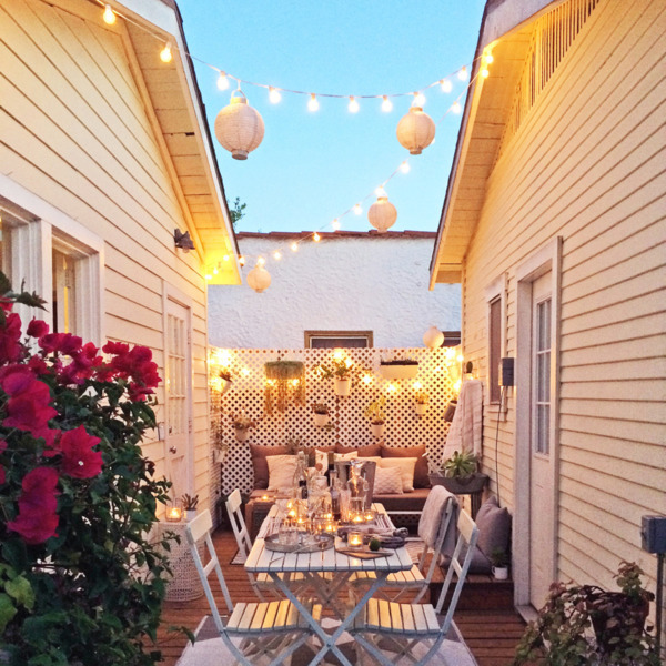 Whitney Leigh Morris - Tour This Gorgeous 362-square-foot Canal Cottage   Domino   Stunning Small Outdoor Spaces