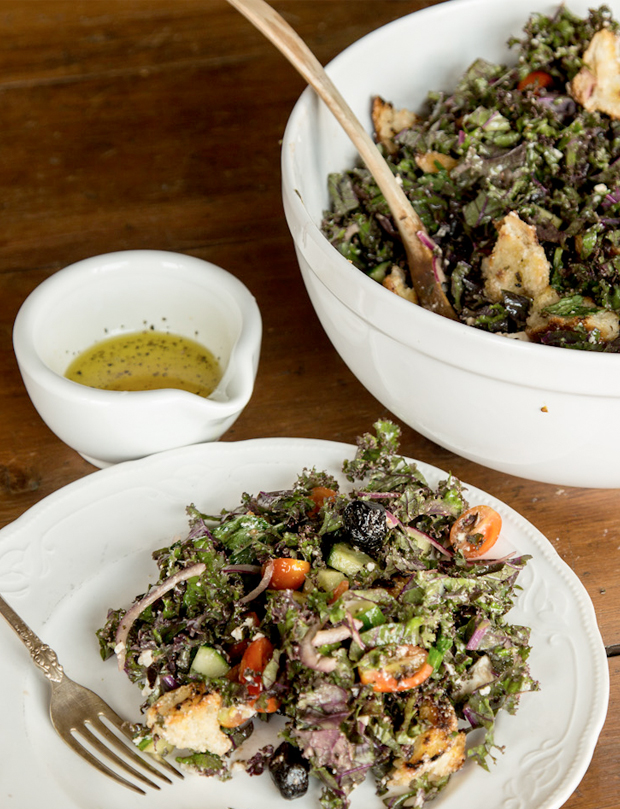 Mangiona W/ Caitlin Levin #29: Crunchy Greek Salad   The Jungalow   Summer Salads